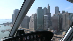View helicopter flying over NY