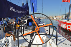 View From The Helm Of A Volvo Ocean Race Boat Stock Photography