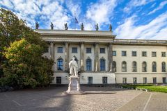 Helmholtz statue in Berlin Royalty Free Stock Photos
