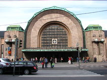 A view of Helsinki central train station Royalty Free Stock Photography