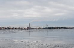 View of Helsinki city and the sea that surrounds it, Finland stock photo