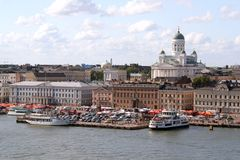 View of Helsinki harbor, Finland Royalty Free Stock Image