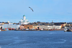 View of Helsinki from the sea stock photos
