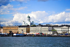 View of Helsinki from the sea Royalty Free Stock Image