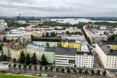 View of Helsinki from the tower of the Olympic stadium.Finland. Stock Images
