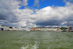 View of Helsinki from the water Stock Photos