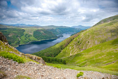 View from Helvellyn towards Thirlmere Lake Stock Photo