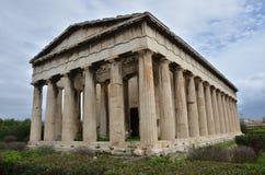 View of Hephaistos Temple Stock Image