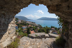 View on Herceg Novi old town in Montenegro Royalty Free Stock Photography