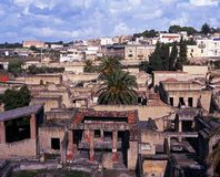 View of Herculaneum, Italy. Royalty Free Stock Photo