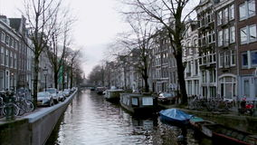 View of heritage city canals (Bloemgracht) of Amsterdam stock video