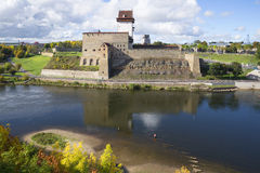 View of the Herman castle september afternoon. Narva, Estonia Stock Photos