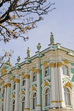 View of Hermitage Museum in Saint-Petersburg city, Russia. Stock Photography