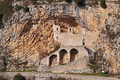 San Cataldo, church in the rock, Cottanello, Rieti Royalty Free Stock Photos