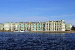 View of the Hermitage. Saint-Petersburg, Russia. View of the Hermitage across the Neva. Saint-Petersburg, Russia Stock Images