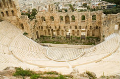 View of Herodes Atticus theatre Royalty Free Stock Photos