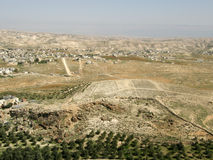 View from Herodium � King Herod's Palace-Fortress I., Judean Desert, Israel Stock Photo