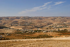 View from Herodium, Palestine Stock Photography