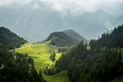 View from Herzogstand Bavaria Germany Stock Photos