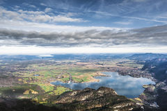 View from Herzogstand to Kochelsee Stock Photography