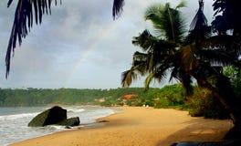 Tropical beach `Butre beach` in Ghana royalty free stock photography