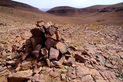 View of high altitude mountains in Morocco Royalty Free Stock Photography