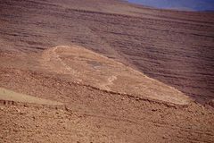 View of high altitude mountains with the shape of a heart in Morocco Stock Image
