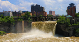 View of the High Falls in the city of Rochester Royalty Free Stock Image