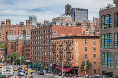 View from the high line in Chelsea, New York Royalty Free Stock Photography