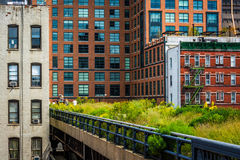 View of the High Line in Manhattan, New York. Stock Images