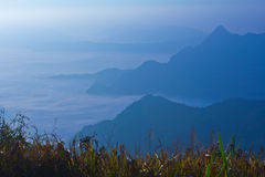 View on high mountain stock photography