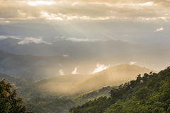 View of the high mountain. In Thailand Stock Images