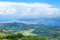 View from the high mountains of Lefkada Royalty Free Stock Photos