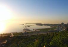 Panoramic city view of Baku. stock photography