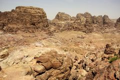 View from the High Place of Sacrifice in Petra, Jordan Stock Image