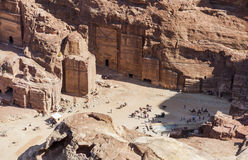 View from  High Place of Sacrifice. Petra. Jordan. Royalty Free Stock Photo