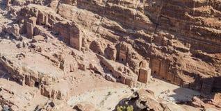 View from  High Place of Sacrifice. Petra. Jordan. Stock Image