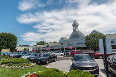 View of High Ridge Road in Stamford. STAMFORD, USA - JULY 16: View of High Ridge Road on July 16, 2015 in Stamford, CT. Stamford is a city in Fairfield County Stock Image