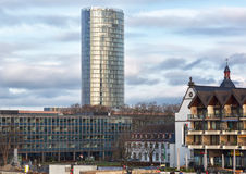 View of the high-rise building of KölnTriangle Stock Images