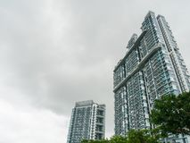 View of Residential Condominium in a Modern City. View of High Rise Building or Residential Condominium in a Modern City Where People Living stock photo
