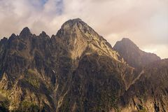 View on Lomnicky Stit in high Tatra Mountains Royalty Free Stock Image