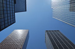 A view of the high skyscraper in New York. Royalty Free Stock Image