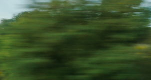 View from high-speed train stock video footage