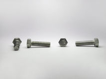 View of the high-strength bolt from all four sides. High strength bolt in four projections Stock Image