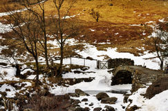 View of High Sweden Packhorse Bridge Stock Images