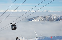 View on High Tatras with cableway. Stock Photos