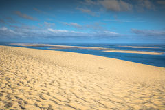 View from the highest dune in Europe - Dune of Pyla (Pilat), Arc. Achon Bay, Aquitaine, France Stock Images