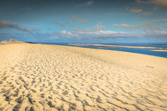 View from the highest dune in Europe - Dune of Pyla (Pilat), Arc. Achon Bay, Aquitaine, France Stock Image