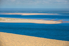 View from the highest dune in Europe - Dune of Pyla (Pilat),. Arcachon Bay, Aquitaine, France Stock Image