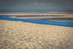 View from the highest dune in Europe - Dune of Pyla (Pilat),. Arcachon Bay, Aquitaine, France Royalty Free Stock Images